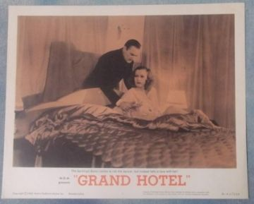 Grand Hotel, Original Lobby card #1, Greta Garbo, John Barrymore, 'R62